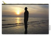 Beach Sculpture At Crosby Liverpool Uk Carry-all Pouch