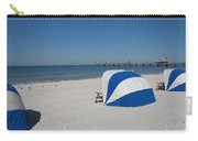 Beach With Beachchairs Carry-all Pouch
