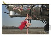 Beautiful 1940s Style Pin-up Girl Carry-all Pouch by Christian Kieffer