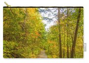 Beautiful Autumn Forest Mountain Stair Path At Sunset Carry-all Pouch