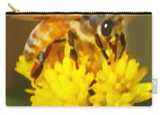 Bee On A Yellow Flower Carry-all Pouch