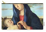Bellini's Madonna And Child In A Landscape Carry-all Pouch