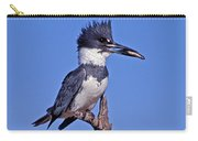 Belted Kingfisher With Fish Carry-all Pouch