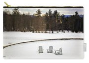 Berkshires Winter 3 - Massachusetts Carry-all Pouch by Madeline Ellis