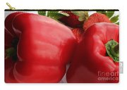 Big Red Peppers And Strawberries  Carry-all Pouch