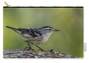 Black And White Warbler Carry-all Pouch