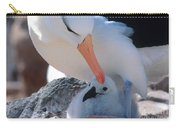 Black-browed Albatross With Chick Carry-all Pouch by Art Wolfe