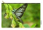 Blue Butterflies In The Green Garden Carry-all Pouch