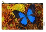 Blue Butterfly On Mums Carry-all Pouch