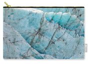 Blue Glacier Ice Background Texture Pattern Carry-all Pouch