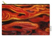 Brush Strokes In Red Carry-all Pouch