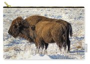 Buffalo In Winter Carry-all Pouch