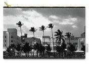 Buildings Lit Up At Dusk, Ocean Drive Carry-all Pouch