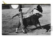Bull Fight Matador Charging Bull Us-mexico  Border Town Nogales Sonora Mexico 1978-2012 Carry-all Pouch
