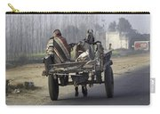 Bundled Up For The Cold In A Foggy Day In Rural India Carry-all Pouch