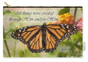 Butterfly Scripture Carry-all Pouch