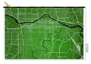 Calgary Street Map - Calgary Canada Road Map Art On Colored Back Carry-all Pouch