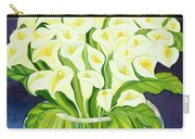 Calla Lilies Carry-all Pouch by Laila Shawa