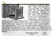 Camera Advertisement, 1900 Carry-all Pouch