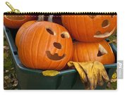 Carved Pumpkins In A Wheelbarrow Carry-all Pouch