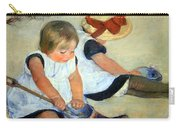 Cassatt's Children Playing On The Beach Carry-all Pouch