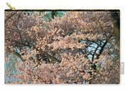 Cherry Blossoms In Pink And Brown Carry-all Pouch