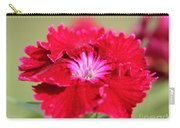 Cherry Dianthus From The Floral Lace Mix Carry-all Pouch