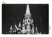 Black And White Basilica Carry-all Pouch