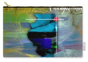 Chicago Illinois Map Watercolor Carry-all Pouch
