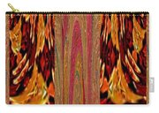 Chinese Folk Ethnic Opera Drapes Decoration Dancing Golden Abstract Signature   Art  Navinjoshi Arti Carry-all Pouch
