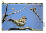 Chipping Sparrow Perched In A Tree Carry-all Pouch