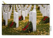 Christmas Wreaths Laid At The Arlington Cemetery Carry-all Pouch