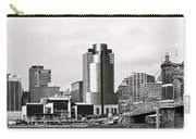 Cincinnati Black And White Panorama Carry-all Pouch