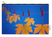 Close-up Of Fall Colored Maple Leaves Carry-all Pouch