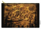 Coca Cola Wooden Sign Carry-all Pouch