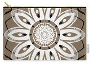 Coffee Flowers 8 Olive Ornate Medallion Carry-all Pouch