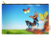 Colorful Buttefly Spring Field Carry-all Pouch