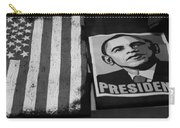 Commercialization Of The President Of The United States Of America In Black And White  Carry-all Pouch by Rob Hans