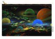 Computer Generated Spheres Abstract Fractal Flame Art Carry-all Pouch