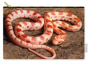 Corn Snake P. Guttatus On Tree Bark Carry-all Pouch