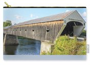 Cornish-windsor Covered Bridge  Carry-all Pouch by Edward Fielding