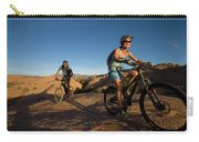 Couple Mountain Biking, Moab, Utah Carry-all Pouch