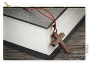Cross And Bible Carry-all Pouch by Elena Elisseeva
