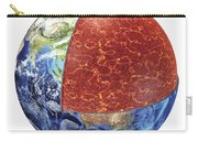 Cross Section Of Planet Earth Showing Carry-all Pouch
