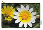 Crown Daisy Flower Carry-all Pouch by George Atsametakis