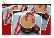 Cup Of Christmas Cheer - Candy Cane - Candy - Irish Cream Liquor Carry-all Pouch by Barbara Griffin