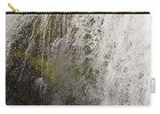 Curtain Of White Water Falling From Rocky Cliff Carry-all Pouch