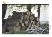 Cut Tree Trunks Piled Up For Further Processing After Logging Carry-all Pouch