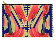 Dancing Tulip Red Exotic Flower Petal Based Wave Pattern  Created By Navinjoshi Reiki Healing Master Carry-all Pouch