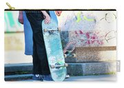 Detail Of Skateboard And Legs Carry-all Pouch